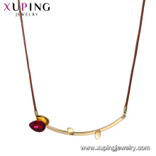 necklace-00638 xuping crystal hanging bar pendant design for luxury lady's necklace